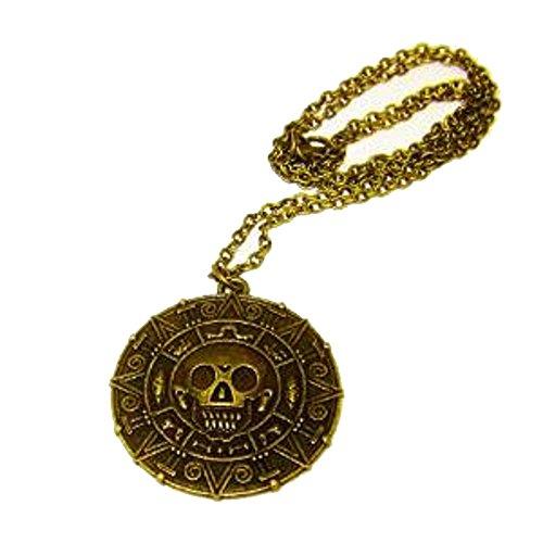 """Dp Design® Aztekengold-Halskette mit Anhänger/ Medaillon, inspiriert von """"Fluch der Karibik"""""""