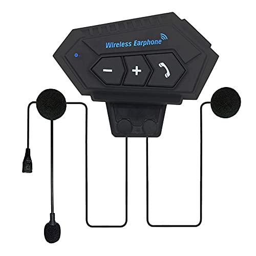 Auriculares Bluetooth para motocicleta con micrófono, auriculares para exteriores de transmisión de llamadas entrantes, auriculares para cascos deportivos impermeables, altavoces de música