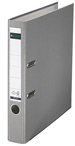 Leitz 10155085 Qualitäts-Ordner (Plastik-Cover, A4, 5,2 cm Rückenbreite) grau