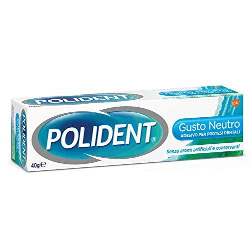Polident – Adhesivo para prótesis dentales, obstaculiza la infiltración de las partículas de comida sin zinc sin sabor – 40 g