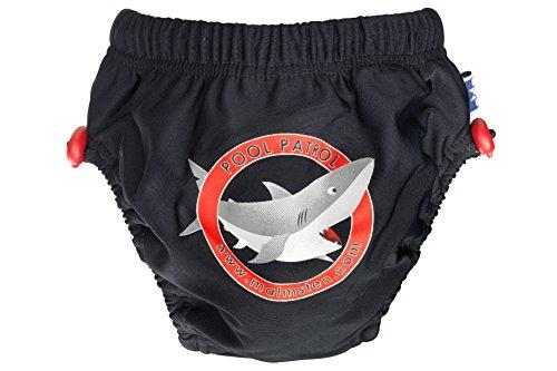 Malmsten kinderen plop-stop stroppy Black Shark zwembroek baby