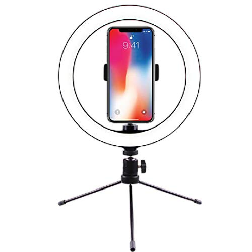 Desktop Metal Bracket 26 Cm Fill Light, Mobile Phone Ring Light, Selfie Photography, Led Beauty Light With Tripod,Metal bracket-One Size