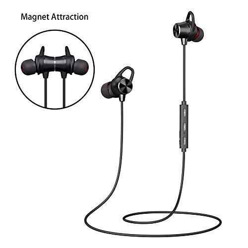 Bluetooth Kopfhörer In Ear, Sport Kopfhörer Joggen Laufen Fitness Wireless Ohrhörer 4.1 Stereo mit Mikrofon 8 Stunden Spielzeit Magnetische für iPhone Android Samsung Huawei iPad Tablets