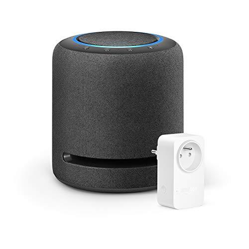 Echo Studio+ Amazon Smart Plug (Prise connectée WiFi), Fonctionne avec Alexa