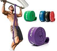 ActiveVikings® Pull-Up Fitnessbänder   Perfekt für Muskelaufbau und Crossfit Freeletics Calisthenics   Fitnessband Klimmzugbänder Widerstandsbänder (D - Lila : Heavy (starker Widerstand))