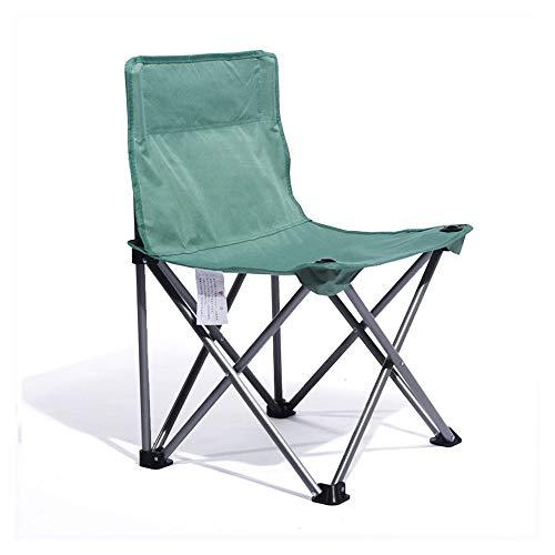 WPCBAA Camping Portable en Plein air Chaise Pliante Tabouret Pliant Chaise Esquisse Art étudiant Chaise Pliante Chaise de Loisirs (Couleur : Vert)