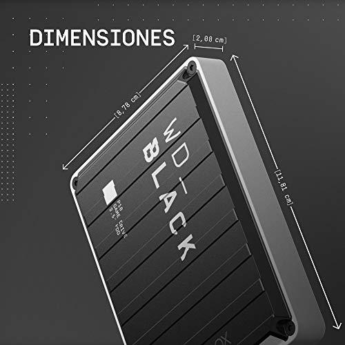 WD_BLACK P10 Game Drive de 5 TB para llevar tu colección de juegos de PC/Mac o PlayStation allí donde vayas