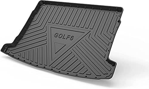 Goma Alfombrillas Maletero para VW Golf 6 2010-2013, Antideslizante Maletero Trasero Protectoras De Cubierta, Coche Accesorios Interiores Impermeables Alfombras
