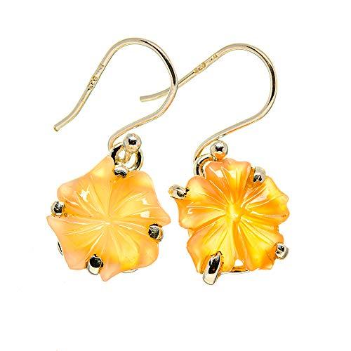 Ana Silver Co Peach Moonstone Earrings 1' (925 Sterling Silver)