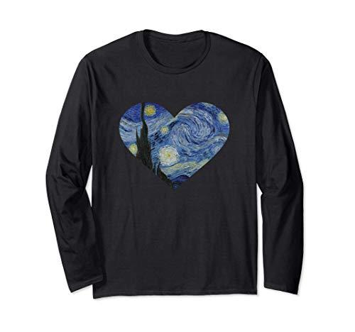 Corazón de la noche estrellada de Vincent van Gogh | Pintura Manga Larga