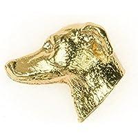 Pequeño Lebrel Italiano Hecho en Reino Unido Artístico Perro Pin Insignia Colección (bañoda en oro de 22 quilates)