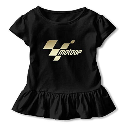 maichengxuan Baby MotoGP Logo Camiseta de Manga Corta Linda para niños pequeños y niñas Negro