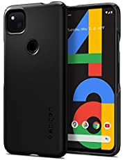 Spigen Thin Fit Compatibel met Google Pixel 4a hoesje, slanke pc-hoes, harde hoes, lichte dunne beschermhoes, mobiele telefoonhoes cover case Black