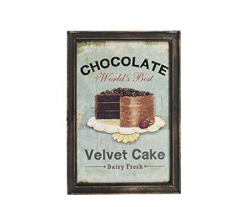 MAXIOCCASIONI Cadre déco rectangulaire, Cadre en Bois, Style Shabby Chic, Presse Cake