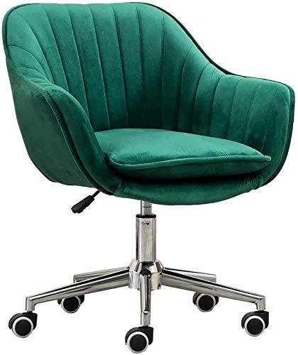 FACAZ Schlafzimmer Bürostuhl Drehstuhl Bequeme Lordosenstütze Schwamm Gepolsterter Konferenzraum Task Desk Chair, Pink Home