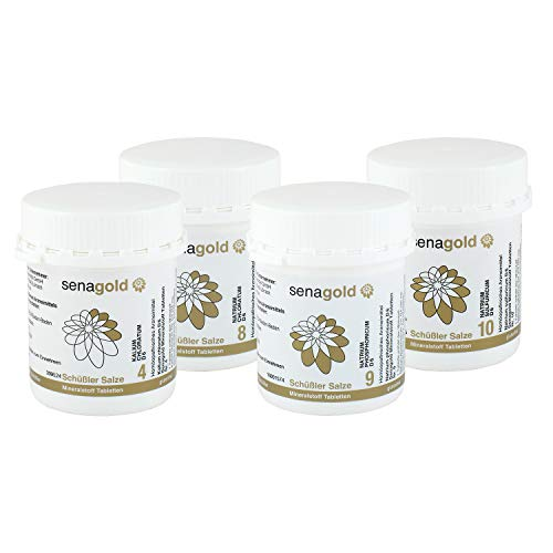 Schüssler Salze Stoffwechsel-Kur Nr. 4, 8, 9, 10 je 400 Tabletten (Abnehmkur)