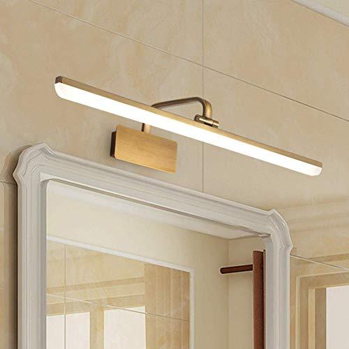CCHWJX LED metalen spiegel lamp retro waterdichte goud-acryl spiegellamp voor make-up tafel spiegel wandlamp 12W familiehotel