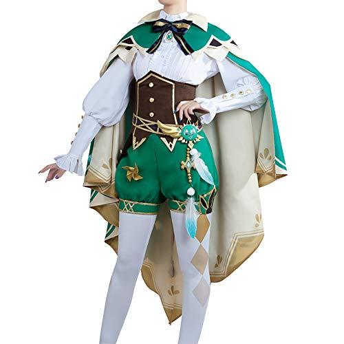 原神 モンド城 ウェンティ コスプレ衣装 COSONSEN 帽子付き 男女兼用 仮装 祭り 舞台衣装 (男性LL)