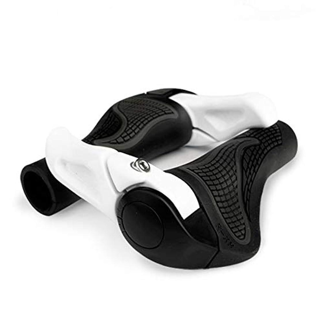 分類するジャンク接辞LZDD サイクリングマウンテン自転車/バイクグリップハンドルグリップハンドルバーグリップエンドLOCK-ON人間工学自転車アクセサリー (Color : White)