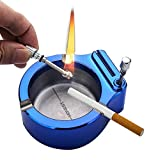 Yakuin Retro Metal Ashtray Gifts for Men,Ten Thousand Match Lighter Multifunction Ashtrays,Office Or Home Creative Ashtray Permanent Match Lighter,Gifts for Dad Husband Boyfriend