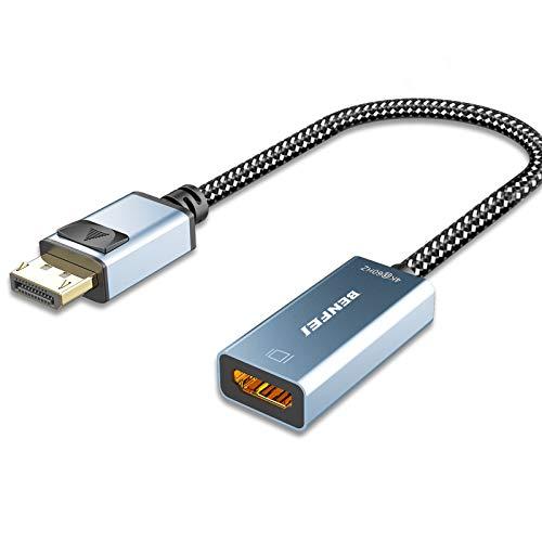Aktiv DisplayPort auf HDMI Adapter 4K@60Hz,BENFEI DP auf HDMI Adapter[Nylon geflochten&Aluminum Alloy], Unterstützung der Eyefinity-Technologie für Multi-Screen