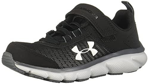 Under Armour Unisex-Youth Pre School Assert 8 Alternate Closure Sneaker, Black (001)/Pitch Gray, 1