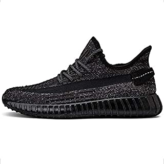 Mr.shoes Boost V2 Breathable Black Reflective Sneakers