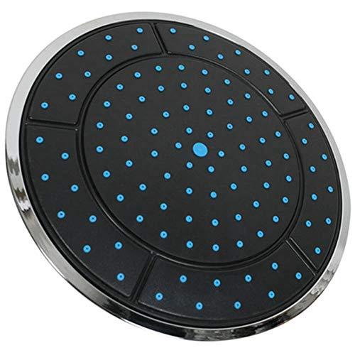 Duschkopf Handbrause 25 cm Kunststoff runde Form Regen angetriebene Duschkabine Top Dusche Dach Kopf Düse Kabine Zubehör Hochdruck Wassereinsparung Leicht zu reinigen Geeignet für Gartenküche