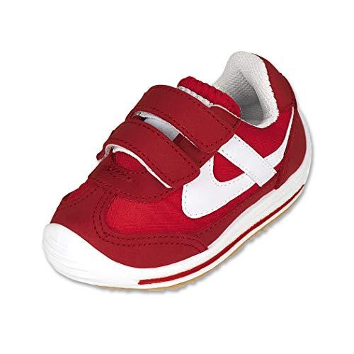 Panam Calzado Niño Bebe Tenis Textil con Velcro Cómodo, color Rojo Blanco, 13