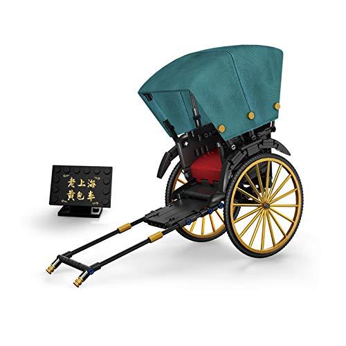 SGBL Moto Técnica, Triciclo de Bicicleta Triciclo Técnico Moderno Modelo 3D, Kit de Modelo de Bloques de Construcción Juguete Educativo, Regalo para Niños Adultos,B
