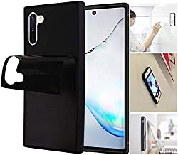 Anti Gravity Phone Case with Dust Proof Film, Magic Nano Sticky Suction Stick to Gym Mirror Wall, Selfie Case for Galaxy Note 10 Plus