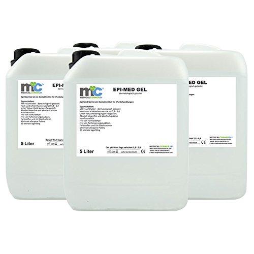 IPL Gel Epimed, IPL Kontaktgel, Laser-Haarentfernung, 4 x 5 l Kanister