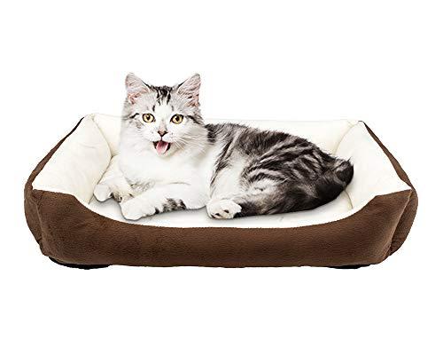 Vanhua ペットベット ペットソファ ソフト マットペット用品 秋と冬通年タイプ クッション 洗える ふんわり一年中使えます中型猫/犬用 (Mサイズ)