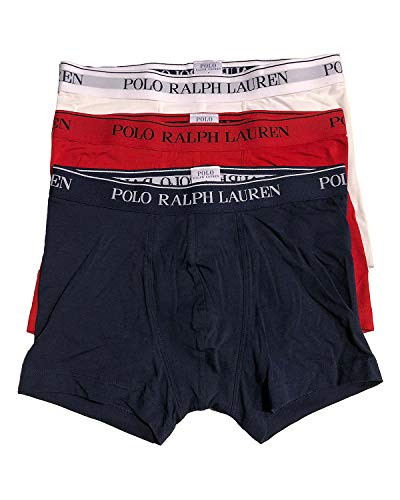 Polo Ralph Lauren 3 Pack Classic Trunk Short kurzes Bein L Red, White, Navy (009)
