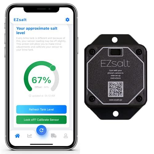 EZsalt Sensor 2.0   Water Softener Salt Level Monitor   Salt Level Sensor   Installs In Any Brine Tank   Wi-Fi Enabled Smart Device   Low Salt Level Alerts   Made In USA