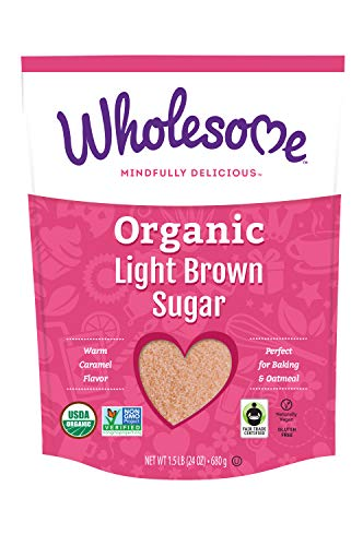 Wholesome Organic Light Brown Sugar, Fair Trade, Non GMO & Gluten Free, 1.5 Pound (Pack of 1)