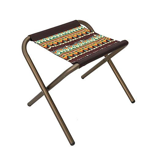 AOIWE Asiento Silla sillas acampa Plegable Plegable de campaña de Aluminio de aleación Ligera compacta Portable de la Pesca pequeño Taburete Festival Park