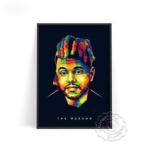 xmydeshoop Rapper Roddy RIcch Poster, JID Alligatoah Poster, Sido Kunstdrucke, The Weeknd Music Poster, The Kid Laroi Bar Pub Club Art Decor 50x70cm No Frame PE-1384