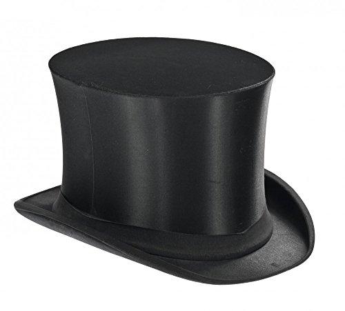 Klappbarer Zylinder Schwarz für Damen und Herren Gr. 54-60 Chapeau Claque Klappzylinderhut Klappzylinder Hut