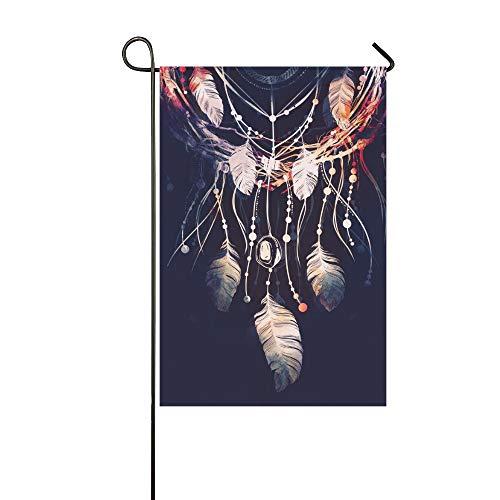 Décoratif à la maison en plein air double face Dreamcatcher branches arbre attribut Boho Style drapeau de jardin pavillon de la maison de jardin saisonnier drapeau extérieur de bienvenue cadeau