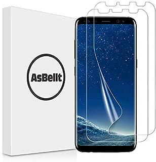 Galaxy S8 フィルム AsBellt 全面保護 貼り直し可 スムースタッチ 気泡なし ケースと併用できる 高透過率 TPU素材 Samsung Galaxy S8 対応  5.8 インチ (2枚)