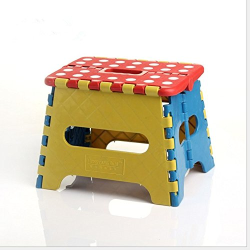 Opvouwbare stapstoel, Premium Heavy Duty opvouwbare kruk voor kinderen en volwassenen, lichtgewicht kunststof anti-slip reizende kruk voor keuken tuin badkamer outdoor activiteit noodzakelijkheid