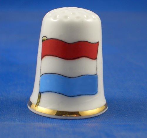 Porzellan Sammlerstück Fingerhut Flagge der Niederlande
