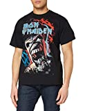 Iron Maiden Wildest Dream Vortex Camiseta Manga Corta, Negro, M para Hombre