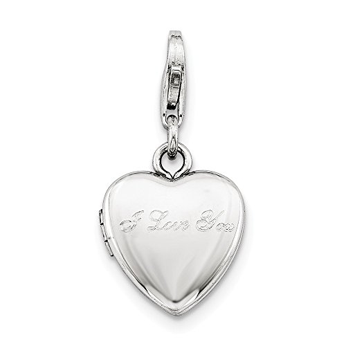 Adornica Diamonds 925 Sterling Silber rhodiniert i Love sie Hummer-Haken 12mm-herzlocket
