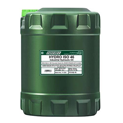 1 x 10L FANFARO Hydro ISO VG 46 / Aceite hidráulico DIN...