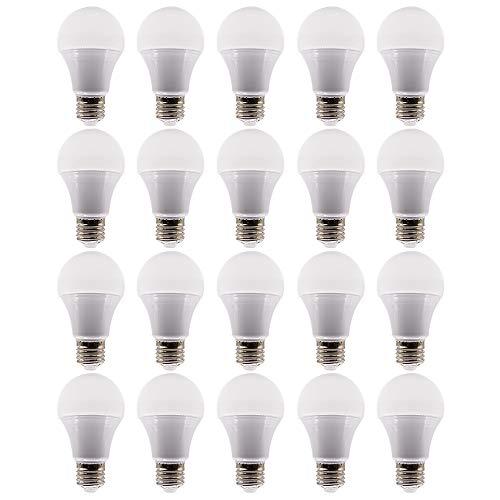 Mengjay®20x E27 LED-licht, 7W, E27 LED-licht, 6000 K koud wit, LED-lichtbron, vermindering van onderhoudskosten, voordelen en van de lage prijs door vermindering van de frequentie van de lampen vervangen
