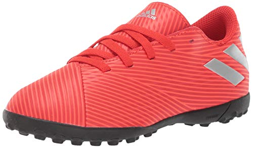 adidas Unisex-Kid's Nemeziz 19.4 Turf Soccer Shoe, Active Red/Silver Metallic/Solar Red, 11K M US Little Kid