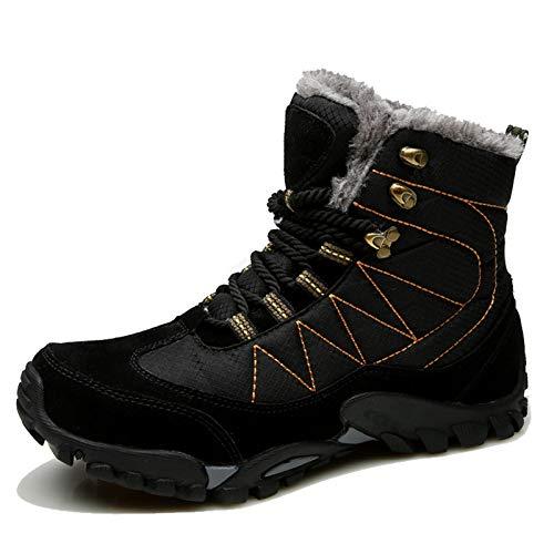 LIDY Martin zimowe buty zimowe Plus z aksamitu, duże buty męskie, buty śnieżne, modne, ciepłe buty sportowe, buty trekkingowe, wodoodporne, buty męskie, czarne, 37