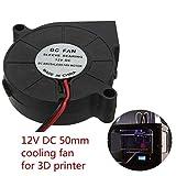 Dasiudaiosud Impresora 3D 12V DC 3 Piezas de 50 mm * 50 mm Radial Blow Ventilador de refrigeración Partes de la Impresora 3D